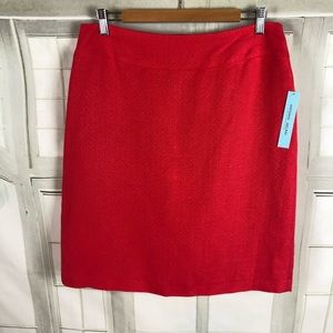 🆕 Antonio Melani Coral Linen Blend Pleated Skirt